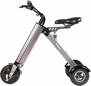 #5. TopMate ES31 Mini Electric Scooter Foldable Tricycle with 3 Shock Absorbers and 3 Gears Speed