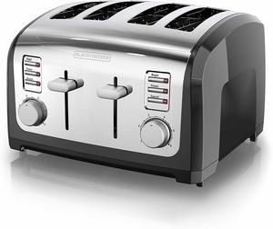 #6. BLACK+DECKER T4030 4-Slice Toaster