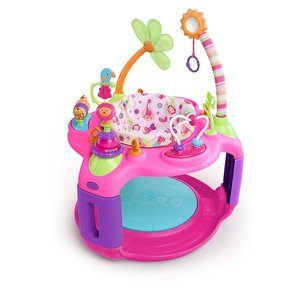 #7. Bright Starts Pink Bounce-A-Round - Sweet Safari Adventure