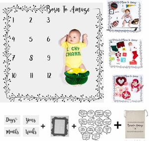 #8 Baby Milestone Backdrop Blanket