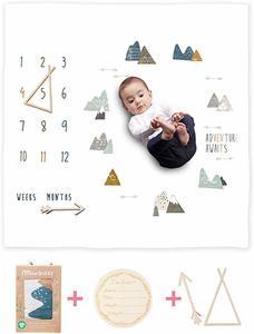 #9 Organic Baby Milestone Blanket