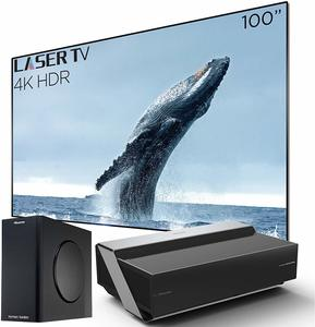 14. Hisense 100L10E Smart Ultra Short Throw 4K UHD HDR Home Theater Projector