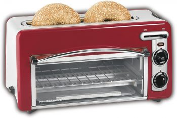 1. Hamilton Beach Toastation Oven, (22703H), Red