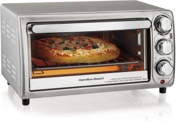 10. Hamilton Beach 4-Slice Countertop Toaster Oven