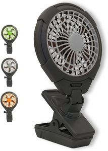10. O2COOL Battery Operated Clip Fan