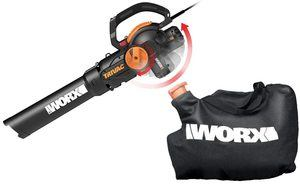 10. WORX WG512 Trivac 2.0 Electric 3-in-1 Vacuum Blower