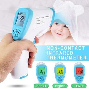 11. Fishoo Forehead Non Contact Infrared Thermometer LCD Digital Temperature Meter