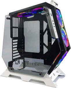 13. KEDIERS ATX Open Frame Panoramic Viewing Gaming Computer Case