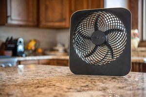 2. Treva 10-Inch Portable Air Circulation Battery Fan