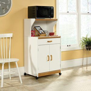 3. Sauder Universal Oven Cart, Soft White finish