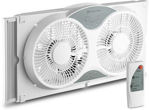 4. BOVADO USA Twin Window Cooling Fan with Remote Control