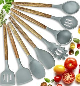 4. Home Hero Silicone Cooking Utensils Set, 8 Pieces