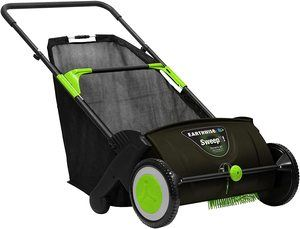 5. Earthwise LSW70021 21-Inch Leaf & Grass Push Lawn Sweeper