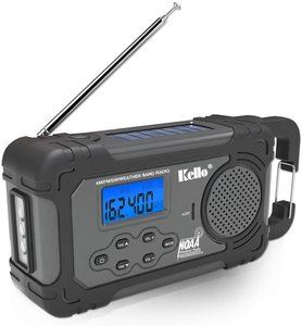 5. Kello Solar Crank NOAA Weather Radio