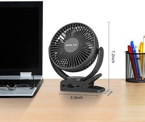 5. OPOLAR 5000mAh Portable Clip & Desk Fan