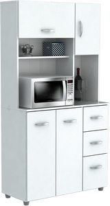 6. HomeRoots Kitchen Storage Cabinet - MelamineEngineered Wood