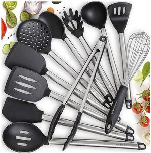 4. Home 7. Home Hero 11 Silicone Cooking Utensils SetHero Silicone Cooking Utensils Set, 8 Pieces