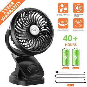8. COMLIFE Battery Operated Clip on Portable Fan