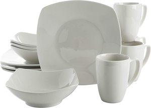 8. Gibson Home Zen Buffetware 12 Piece Dinnerware Set