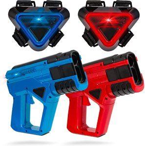 8. SHARPER IMAGE Two-Player Toy Laser Tag Gun