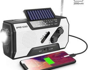 9. Emergency Weather Solar Crank AM FM NOAA Radio