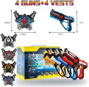 9. HI9. HISTOYE Large Laser Tag Sets with Gun and VestS