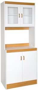 9. Home Source Industries - 153BRD - Tall Kitchen Microwave Cart