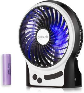 9. OPOLAR Rechargeable Portable Handheld Fan