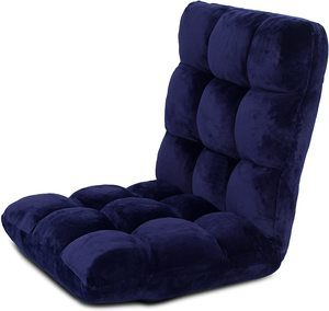 1. BIRDROCK HOME Memory Foam Floor Chair –Blue
