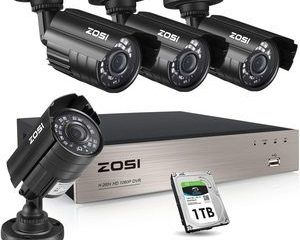 1. ZOSI 1080P Security Camera System with 1TB Hard Drive