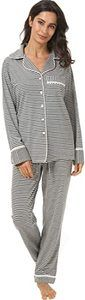 10. Espoir Womens Long Sleeve Pajama Sets