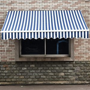 11. MCombo 13x8 Feet Manual Retractable Awning Sunshade Shelter