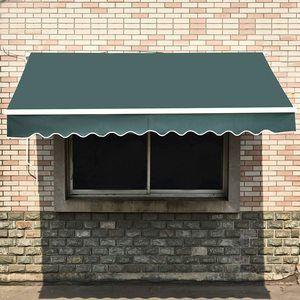 12. MCombo 10x8 Feet Manual Retractable Awning Sunshade Shelter