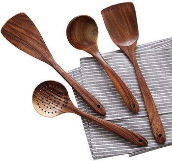 3 Wooden Cooking Utensils Kitchen Utensil
