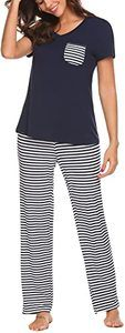 4. Hotouch Womens V-Neck Short Sleeve Pajamas Pants