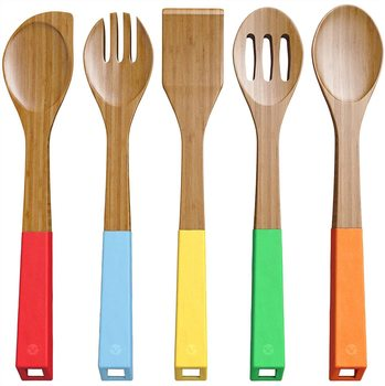 6 Vremi 5-Piece Bamboo Kitchen Utensil Set