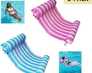 6. AIWAN LEZHI 2-Pack Premium Swimming Pool Float Hammock