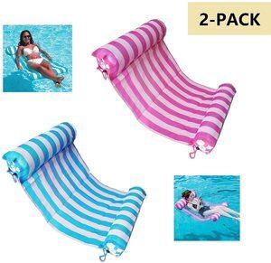 6. AIWAN LEZHI 2-Pack Premium Swimming Pool Float Hammock