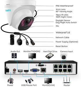 8. Reolink 8CH 5MP PoE Home Security Camera System