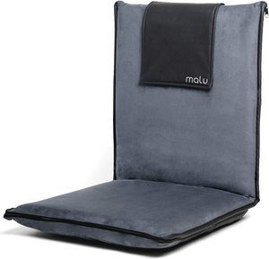 8. malu Luxury Padded Floor Chair with Back Support