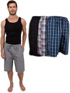 9. Men's 3 Pack Soft Poplin Woven Pajama
