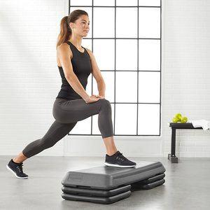 1. AmazonBasics Aerobic Exercise Workout Step Platform