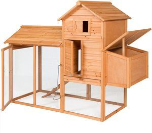 1. Best Choice Products 80in Outdoor Wooden Chicken Coop