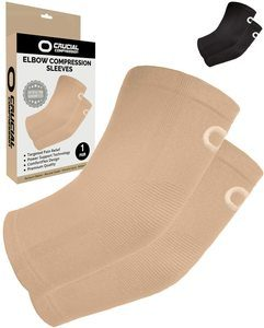1. Crucial Compression Elbow Sleeves