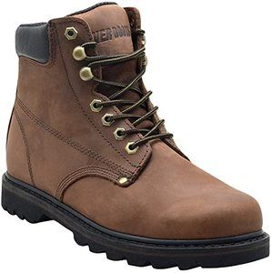1. EVER BOOTS Tank Men's Soft Toe Oil Full Grain Leather Work Boots