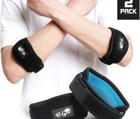 1. Elbow Brace 2 Pack for Tennis & Golfer's Elbow Pain Relief