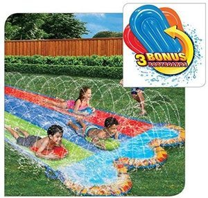 10. Banzai Triple Racer 16 Ft Water Slide-with 3