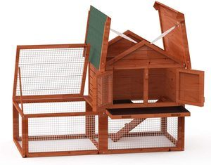 10. LINLUX Deluxe Large Wooden Chicken Coop