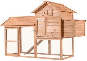 3. Lovupet 83inch Outdoor Wooden Chicken Coop