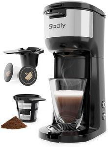 4. Single Serve Coffee Maker Brewer for K-Cup Pod & Ground Coffee